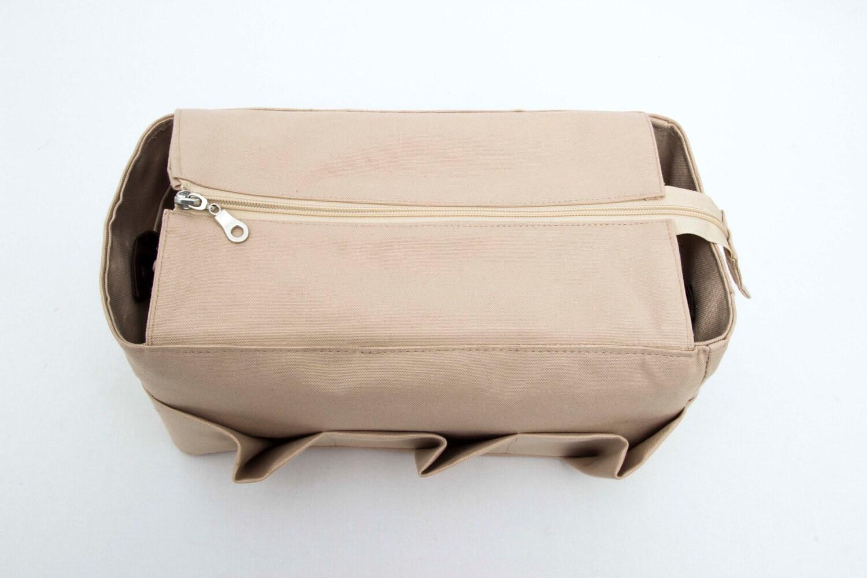 tan purse insert