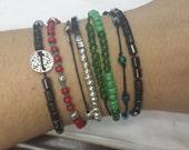 Waxing Poetic linen cord bracelets