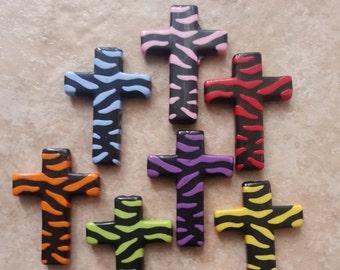 Zebra print cross connector