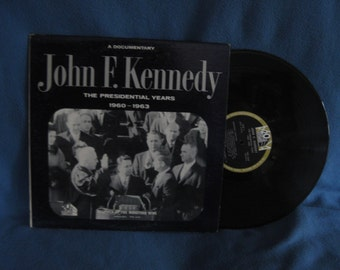 "Vintage, John F. Kennedy ""The Presidential Years 1960-1963"", Vinyl LP, Record Album, Fox Movietone News"