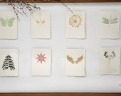 free choice set, 3 cards - handmade paper cards laser cut motif with paper insert and enevelope