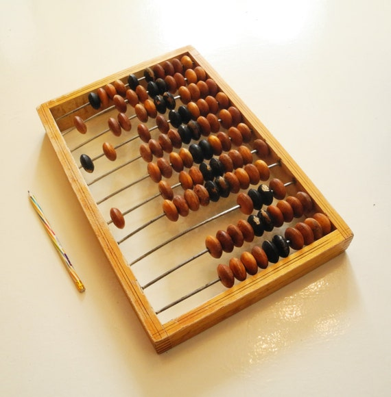 Very large wooden abacus, vintage Russian Soviet calculator