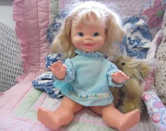 Kathy Quick Curl Doll Vintage Mattel, Original Dress 73, Kathy Quick Curl Doll, Vintage Doll, Mattel Doll, Vintage Toy, Curl Doll Hair :)S