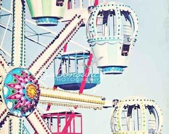 Ferris Wheel, Nursery Decor, Jersey Shore, Seaside NJ - Fine Art Photograph 8x10
