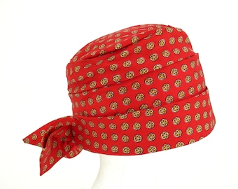 Bohemian Red Bandana Style Nylon Print Hat