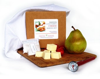 Paneer & Queso Blanco Cheesemaking Kit for making cheese at home with an easy to use complete cheese making kit