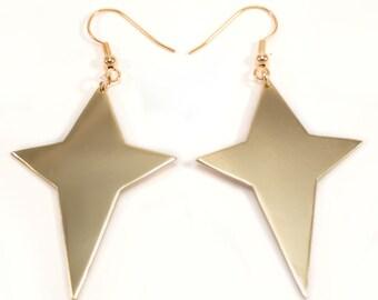 """Earrings four-pointed star """"Quasar"""""""