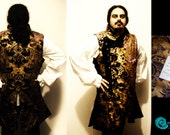 Pirate Waistcoat Jacket Renaissance Reenactment Sca Men vest coat elegant MADE TO ORDER