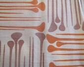 1960's Scandinavian Modern Fabric, Scandinavian, Danish, Modern, 1960's, 1970's, Cotton, Decorator Weight, Abstract