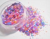 Matte Purple Solvent Resistant Glitter Mix  -  Moon Dust - 5 Gram Nail Polish Glitter Blend for Nail Polish Frankening