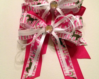 Too Sweet Horse Show Bows, Equestrian Hair Bow, set of 2