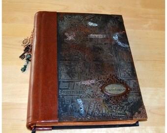 Handmade travel  journal,  diary, journey photo book, sketchbook, notebook, scrapbook, journey journal