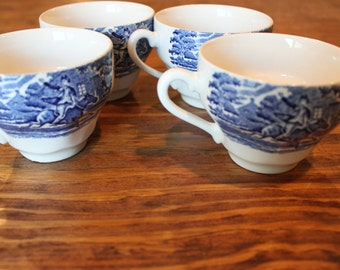 Vintage Tea Cups - Patriotic British Design