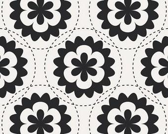 SAVE on 2.9 yd. bolt end--Geometric Bliss--Fractal Garland Black--Jeni Baker--Art Gallery Fabrics--100% premium cotton