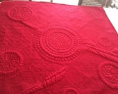 Whole Cloth quilt, red as described