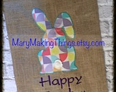 Happy Easter Bunny Outdoor Garden Flag
