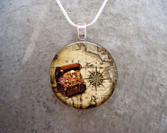Pirate Jewelry - Glass Pendant Necklace - Pirate 10 - RETIRING 2017