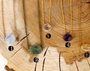 Sale! - Stone Gem Drop Necklace