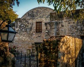 Alamo Mission in San Antonio, Texas 8x10 Fine Art Photography Landscape Print, Wall Art Decorative Home Decor, History Art Photo, Texas Art