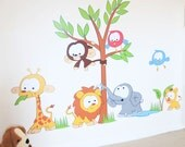 Jungle Animals kids Wall Sticker Decal