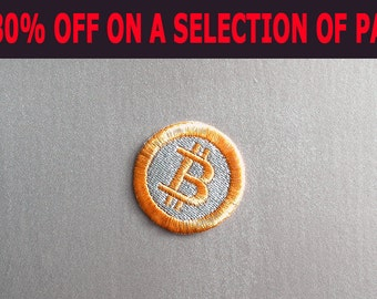 SALE -30% OFF - Bitcoin sew on Patch