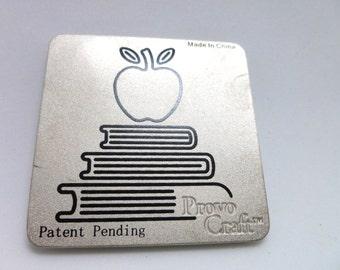 Cuttlebug Apple and Books Die, DETASH, Die cutting machine supply