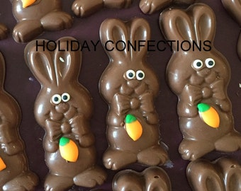 Chocolate Bunny Favors, Party Favors, Easter Egg Hunt, Easter Basket, Easter party