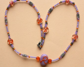 O O A K - Glass Beaded Necklace - TNT for a CURE - N103