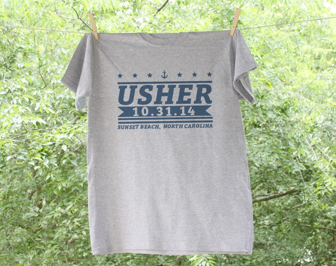 Usher Stars and Stripes Wedding Party Shirt / Bridal Party Shirt