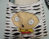 Stewie Upcycled/Recycled Tshirt Cross Body Bag