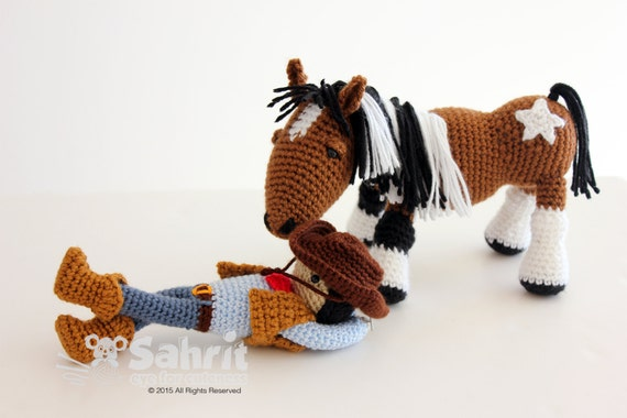Amigurumi Cowboy : Instant Download Pattern BUNDLE Cory the Cowboy and Morla ...