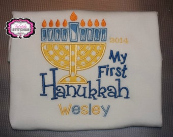 My First Hanukkah, First Hanukkah, My First Hanukkah Shirt, Baby Shower Gift