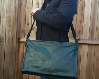 Green Leather Bag, Fashion Shoulder Purse, Everyday Stylish Messenger Bags, Carmen