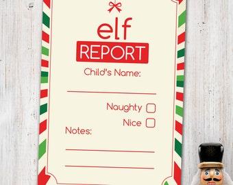 Elf Report Card - Digital Printable