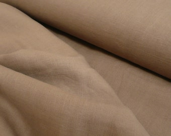 Beige Washed 100% Linen Heavy Weight Fabric 260gsm 140cm wide - Sold by the metre