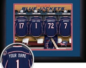 PERSONALIZED & FRAMED NHL Columbus Blue Jackets Sports Print