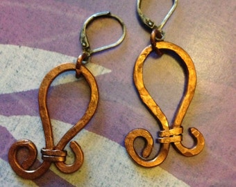 Upcycled Copper Earrings