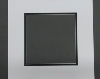 16x16 Square Double Picture Mats for 12x12 Pictures-Over 30 colors to Choose For Top and Bottom Mats