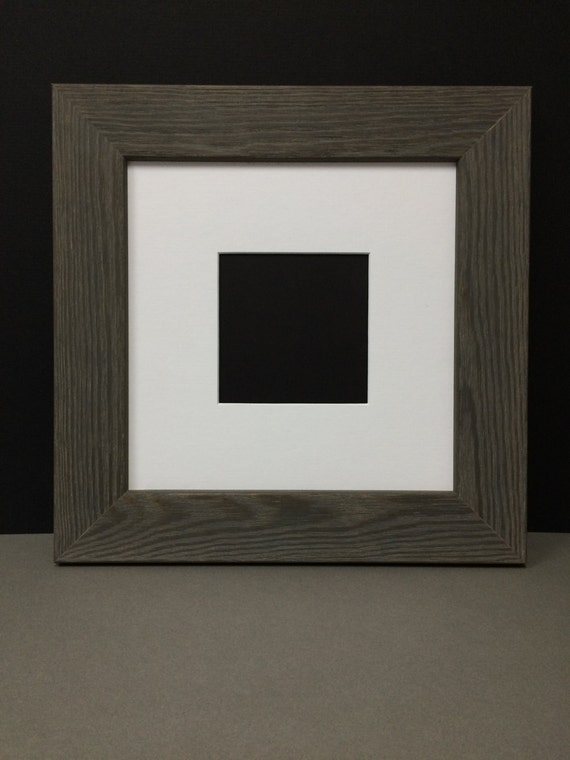 Square Rustic Grey Barn Board Style Picture Frame With