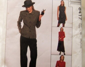 McCalls 8417 uncut size 20 - 24 womens pants suit pattern + dress