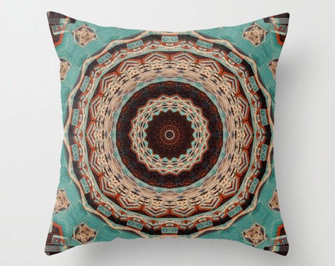 Southwest Mandala Throw Pillow, Photo Pillow, Abstract Pillow, Mandala Pillow, Photography