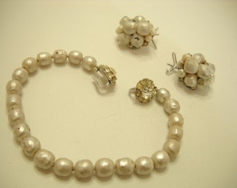 Vintage McCain NY Demi Parure (8934) Necklace & Pierced Earrings