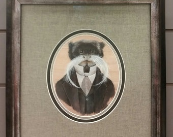 "Sir Emperor Tamarin, 8x10"" signed archival art print"