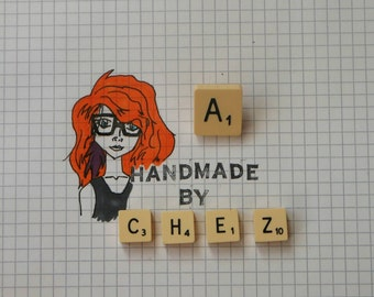 A Scrabble Tile Pin