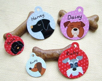 Dog Tag- Pet ID Tag -LARGE 38mm - Dog Name tag - Dog Collar Tag