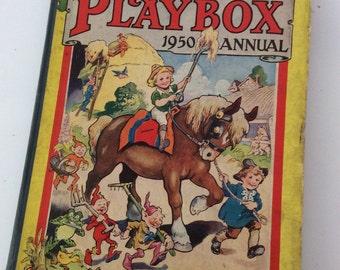 Vintage Playbox Annual 1950 Hardback Book- Scrapbooking, Crafting etc- 1950's Children's Book
