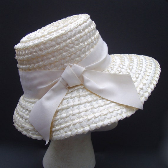 VINTAGE 60s Raffia Hat
