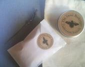 The Sweet Beekeeper skin healing duo gift pack-organic Australian face scrub and organic shea honey lip butter.