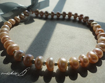 Salt Water Pearl, Genuine Saltwater Pearl, Borneo Saltwater pearl, Peach Salt Water Pearl, DIY Supply, Jewelry Supply