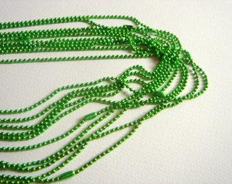 Neon Green Ball Chain 24''